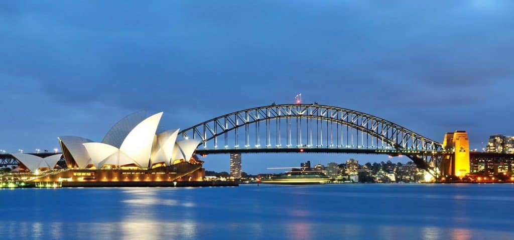 Sydney opera house in Australia & New Zealand